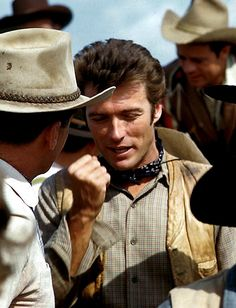 Clint Eastwood photographed on the set of Rawhide, c. early '60s.