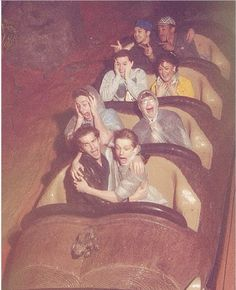 I love their facial expressions!! lol They are all so cute!  Dan DeLuca, Benjamin Cook, Zachary Sayle and Jacob Kemp. On Splash Mountain