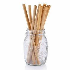 If you are grasping for straws, then replace disposable straws with natural bamboo straws. No inks, no dyes, no more throw-away straws. Reusable bamboo straws from Bambu are durable, beautiful and cut Buy Bamboo, Diy Coffee Table, Custom Bags, Brush Cleaner, Crate And Barrel, Biodegradable Products, Diffuser, Dinnerware, Drinking