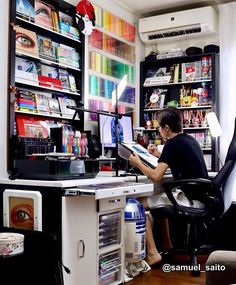 My world ❤✍🏻 Art Supplies Storage, Art Storage, Storage Ideas, Console, Tech Art, Workspace Inspiration, Studio Room, Room Goals, Creative Studio