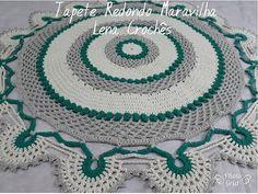Tapete Redondo Maravilha em Crochê - YouTube