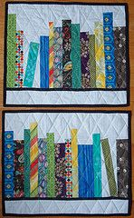 I can see these quilted bookshelf placemats for my grand babies! bookshelf quilt