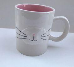 Magenta Spring Easter Bunny Face Mug Maker of Rae Dunn NEW #Magenta