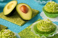 California Avocado Cupcakes with Key Lime Buttercream Frosting