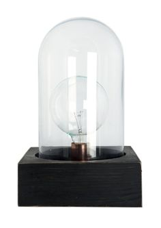 House Doctor Retro Stehlampe mit Glaskuppel