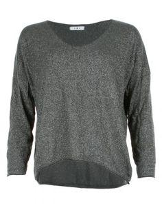 Glitter Lurex Top Grey