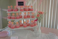 The Small Cupcake Stand 3 Tiered Rustic Painted by TheRusticCart