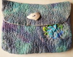 iPad Cover or Small Bag/Handbag Organiser Sea Shells Beach Sea OOAK Blyth Whimsies