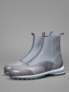 DREIS VAN NOTEN BOOT WITH RUBBER SOLE AND MULTICOLOR LEATHER DETAILS
