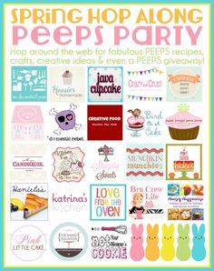 Spring Hop Along PEEPS Party and Giveaway… 22 PEEPtastic Treat Ideas