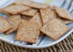 Homemade Wheat Thins. Recipe from http://ohsheglows.com/2011/02/17/homemade-wheat-thins/#.
