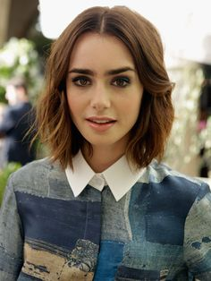 lily collins short hair ✿