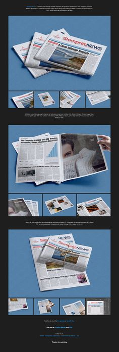 """Hello there! Check out my new @Behance project: """"Slompret News"""". Have a nice weekend :)"""