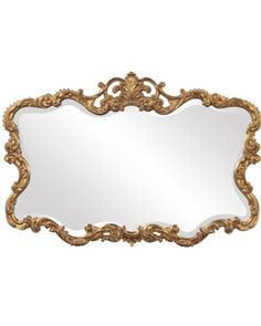 Gold Howard Elliott Mirror - perfect for a Modern Glamour From Traditional European style