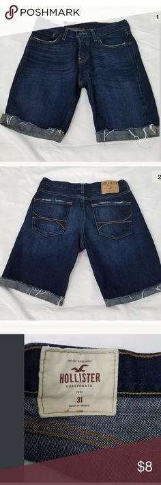 Hollister Ladies Denim Cut Off Shorts Size 31 Hollister Ladies Denim Cut Off Shorts Size 31 dark wash  size 31 rise: 9 1/2 waist :31 inseam: 9 inches no stains    b334 Hollister Shorts Jean Shorts