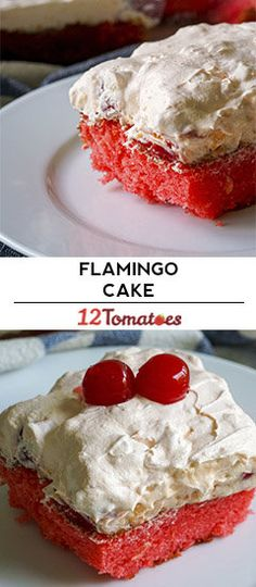 Pink Flamingo Cake~ DF with a couple easy subs : ) Köstliche Desserts, Delicious Desserts, Dessert Recipes, Flamingo Cake, Pink Flamingos, Gateaux Cake, Cake Mix Recipes, Cake Servings, Let Them Eat Cake