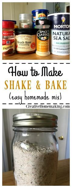 Shake and Bake Mix Recipe for making an easy, inexpensive shake and bake mix for chicken or pork.Recipe for making an easy, inexpensive shake and bake mix for chicken or pork. Homemade Shake And Bake, Homemade Dry Mixes, Homemade Spices, Homemade Seasonings, Recipe For Shake And Bake For Pork, Shake And Bake Pork, Homemade Spice Blends, Soup Mixes, Spice Mixes