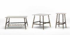 NEWS 2016 SING SING by Mogg / Design by Fabio Bortolani, 2016 Tavolini in metallo. Metal small tables.  #mogg #moggdesign #SingSing #FabioBortolani #SmallTable #Tavolino #Chains #catene #Interior #Design #InteriorDesign #ItalianFurniture #Italian #Furniture #SaloneDelMobile #iSaloni #SalonedDelMobile2016