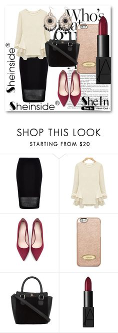 """Sheinside !"" by dianagrigoryan ❤ liked on Polyvore featuring River Island, Zara, MICHAEL Michael Kors and NARS Cosmetics"