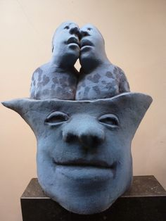 flock keramik sculpture by Sjer Jacobs