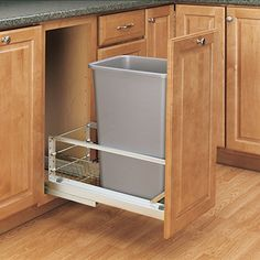 Special Offers - Rev-A-Shelf  5349-1550DM-117  Single 50 Qt. Pull-Out Brushed Aluminum and Silver Waste Container - In stock & Free Shipping. You can save more money! Check It (June 02 2016 at 08:30PM) >> http://garagecabinetusa.net/rev-a-shelf-5349-1550dm-117-single-50-qt-pull-out-brushed-aluminum-and-silver-waste-container/