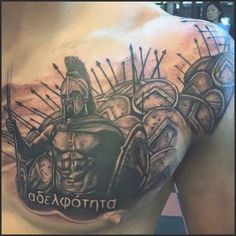 Spartan Men's Warrior Chest Tattoo Ideas | Mat's tattoo ideas ...