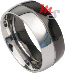 JET BLACK Fusion Stainless Steel Ring Sz 10 Mens Unisex Bold Steel. $4.75. Save 65% Off!