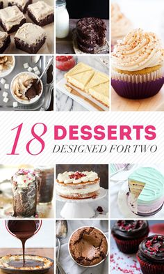 18 Desserts Designed for Two - These small batch recipes are perfect for Valentine's Day or date night!