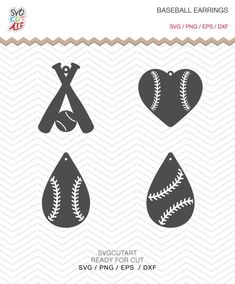 Baseball Earrings SVG DXF PNG eps teardrop Pendant bat decal Cut File for Cricut Design, Silhouette studio, Sure A Lot, Makes the Cut by SvgCutArt on Etsy Diy Leather Earrings, Diy Earrings, Leather Jewelry, Teardrop Earrings, Jewelry Crafts, Handmade Jewelry, Jewelry Ideas, Resin Jewelry, Shilouette Cameo