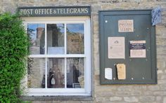 'Downton Abbey' on set filming Season/Series 3 in the village.... Early 20th Century English Country Village Post Office. 1920s England