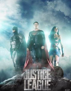 Justice League Movie Poster 2017 Featuring the DC Trinity Batman, Superman and Wonder Woman, Check out the 19 Justice League Easter Eggs and Missed Details - DigitalEntertainmentReview.com