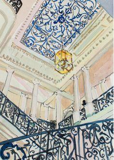 Lee Essex Doyle #watercolors #venice #interiors