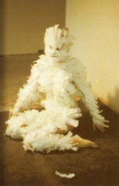 Ana Mendieta - Feathers on a Woman, University of Iowa, 1972 source: spectrumvivace