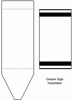 free printable crayon name tags the template can also be used for creating items like labels. Black Bedroom Furniture Sets. Home Design Ideas