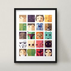 Star Wars hübsch moderner Kunstdruck Kinder Geek Decor Design