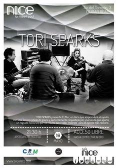 31Canciones presenta a TORI SPARKS en Sala Nice (Ciudad Real)