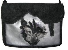 Sac besace fausse fourrure loup Création Akhacia