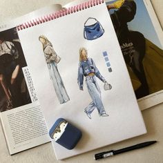 Fashion Design Sketchbook, Fashion Design Portfolio, Fashion Illustration Sketches, Fashion Design Drawings, Art Sketchbook, Fashion Sketches, Illustrations, Art Portfolio, Fashion Figures