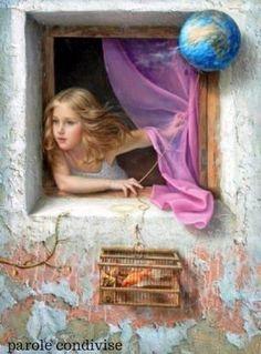La vita accorcia lo sguardo. Da bambino, l'orizzonte è il mondo; da adulto, al massimo un continente.