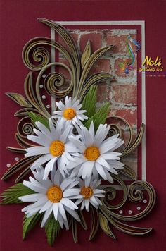 neli: Quilling cards.           ~ Her daisies are FABULOUS❗️⭐️⭐️❗️➕ ‼️‼️‼️➕‼️