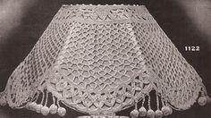 vintage antique crochet lampshade