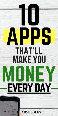 10 Amazing Apps that'll Pay You Huge Money for doing nothing Want to Get paid for doing nothing? These apps will make your wallet happy and earn you money while you do your work. Apps That Pay Cash ~ Earn money on the side with these free smartphone apps. Earn Money Fast, Ways To Earn Money, Earn Money From Home, Way To Make Money, Make Money Online Now, Online Earning, Online Jobs, Earning Money, Investing Money