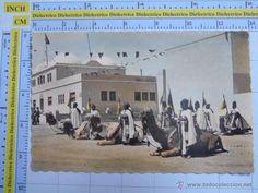 Postales: POSTAL PROTECTORADO AÑOS 50. SAHARA ESPAÑOL AAIUN. TROPAS DE POLICÍA NOMADA. MILITAR 7 PORRAS. 313 - Foto 1 - 54019103