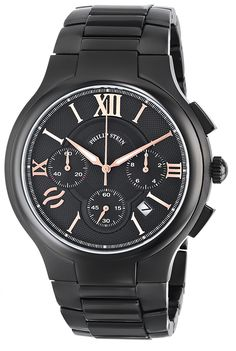 Philip Stein Men's 45B-CRBKRG-SSBP Stainless Steel Watch ** Find out more about the great watch at the image link.