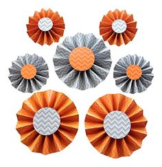 Orange Party, Rosettes, Party Supplies, Decorations, Gray, Amazon, Games, Toys, Color