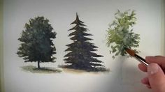 How to paint trees with watercolor. Visit http://thevirtualinstructor.com/how-to-paint-trees-watercolor.html for a more detailed breakdown of this tutorial i...