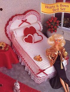 Hearts-Bows-Bed-Set-for-Barbie-Doll-Crochet-PATTERN-30-Days-To-Shop-Pay