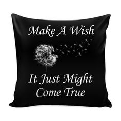 Decorative Pillow Cover Make a Wish it just Might Come True  Pillow Cover Details  16 x 16 100% spun polyester poplin fabric Individually cut and sewn by hand A single sided print with white back Finished with a concealed zipper Does not include pillow insert