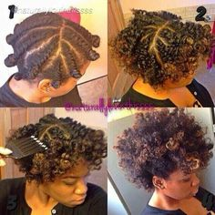 Trying this one day! ------ Natural hair flat twist out