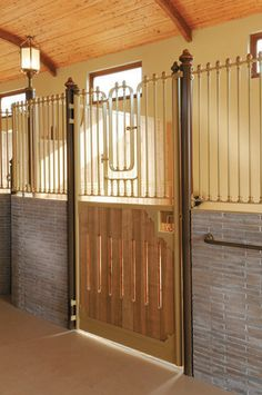 Detail of Italian horse stables